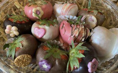 Aardbeien bonbons, 10 stuks